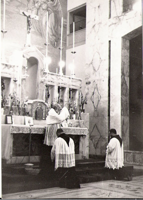 Padre Pio saying Mass