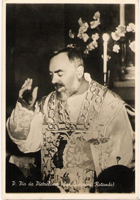 Padre Pio saying a blessing