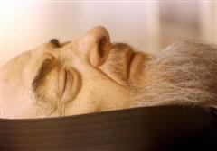 Close up of Padre Pio's face