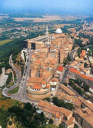 Aerial view of the Basilica of Loreto