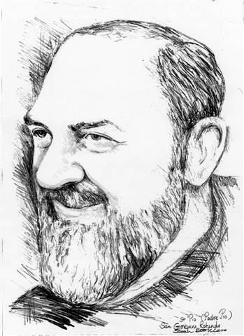 Sketch of Padre Pio