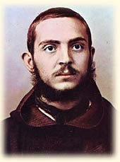 Picture of a young  Padre Pio